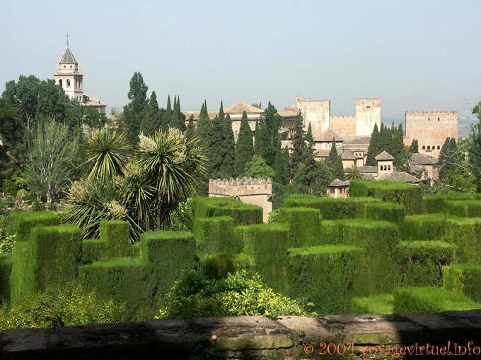 Jardines bajos del generalife alhambra granada espa a for Jardin de la reina granada