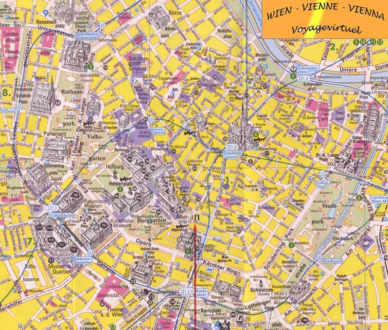 Mapa Y Plan De Viena Centro Historico Austria
