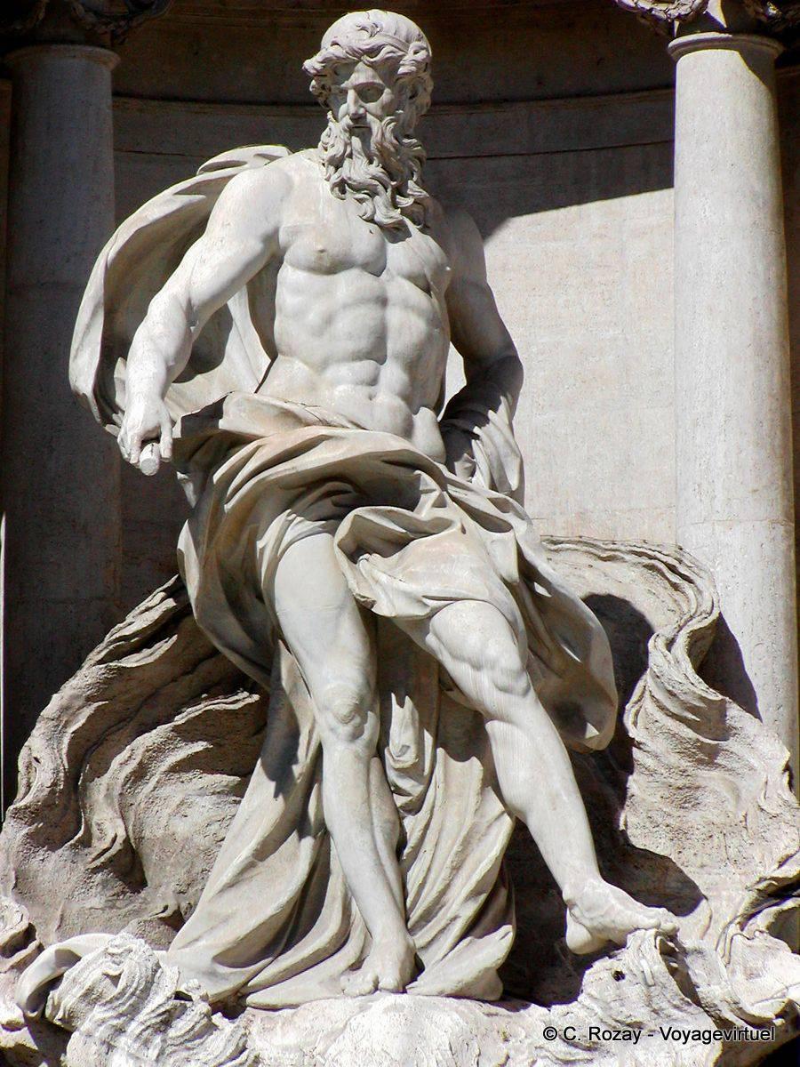 Concéntrese en Neptuno, el dios Océano, la Fontana de