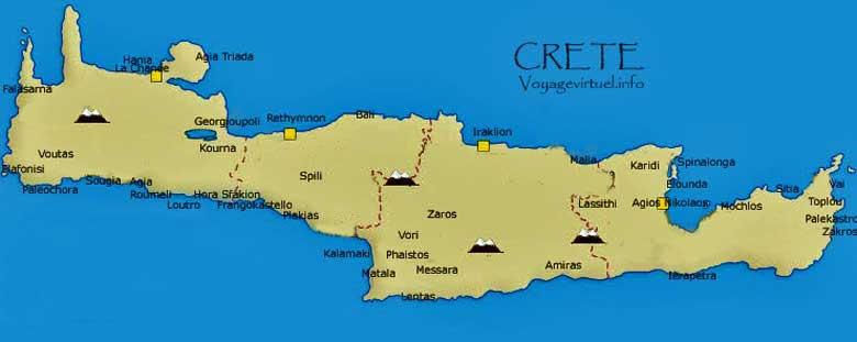 mapa de la creta grecia
