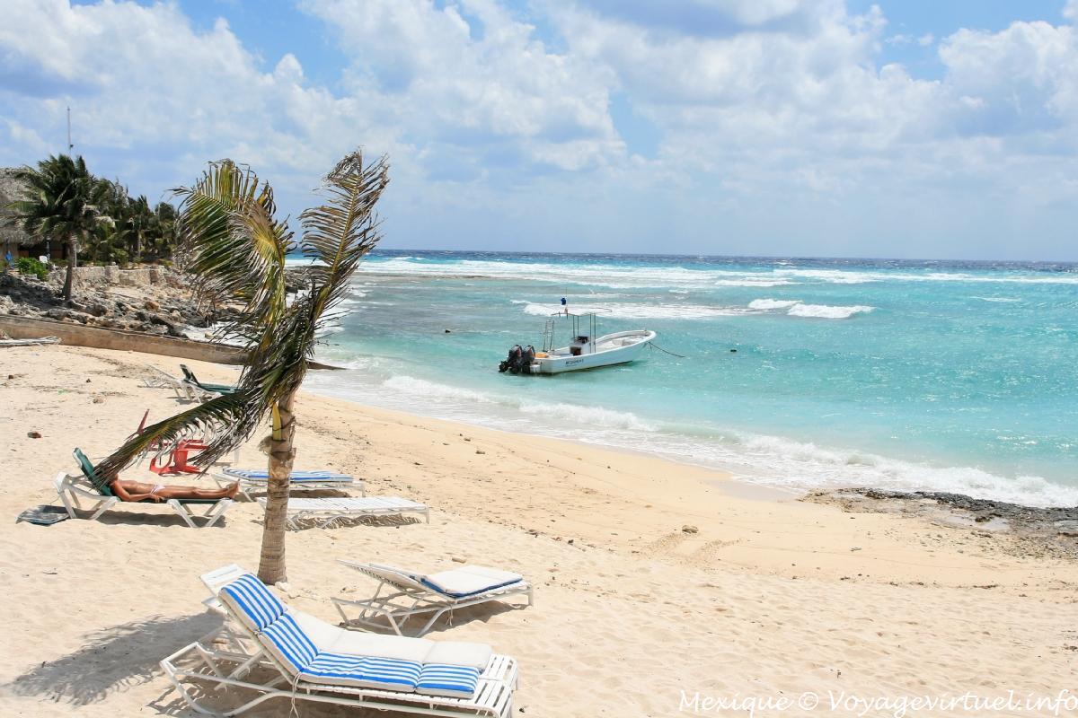 Playa Paamul se ubica a menos de 10 minutos de Playa del Carmen.