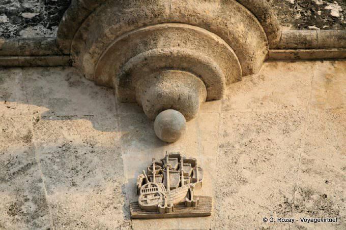 Detalle arquitect nico de la puerta del mar campeche mexico for Puerta 4 del jockey