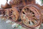 Vieille locomotive Oamaru Otago NZ